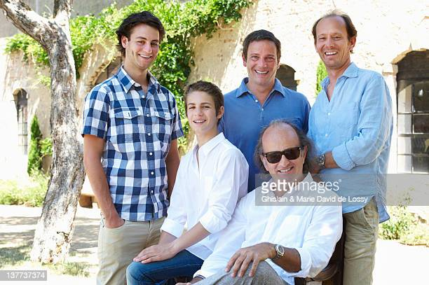 three generations of men together - nephew stock pictures, royalty-free photos & images