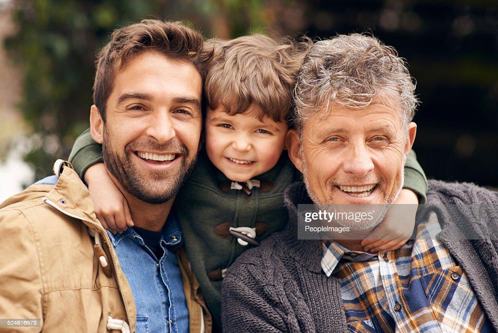Three generations of the boys : Stock Photo