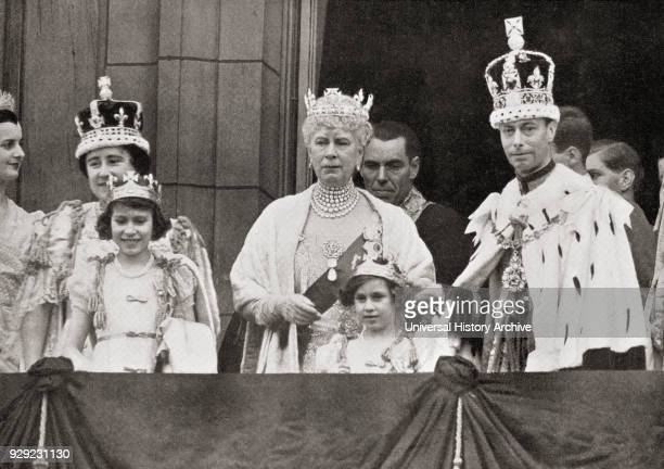 Three generations of the royal family on the balcony at Buckingham Palace after the coronation in 1937 Elizabeth Angela Marguerite BowesLyon 1900 to...