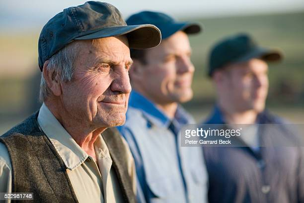 three generations of wheat farmers - history stock pictures, royalty-free photos & images