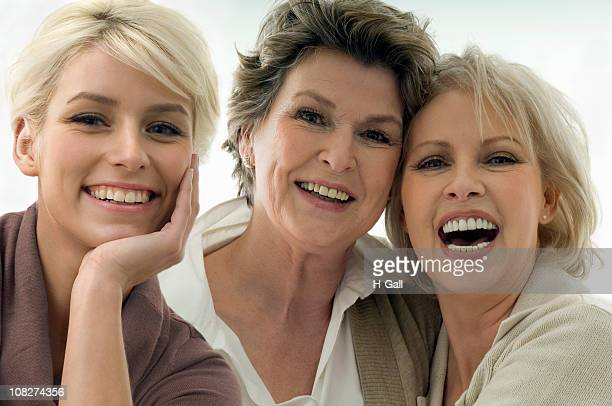 three generations of women - beautiful granny stock photos and pictures