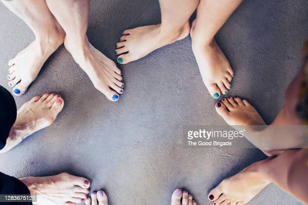 three generations of women's feet - human foot stock pictures, royalty-free photos & images