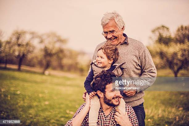 three generations - son stock pictures, royalty-free photos & images