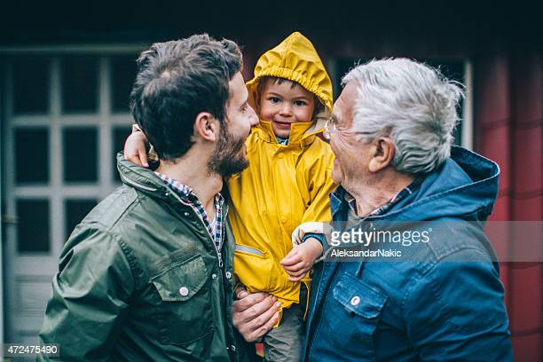 three generations - multigenerational family stock photos and pictures