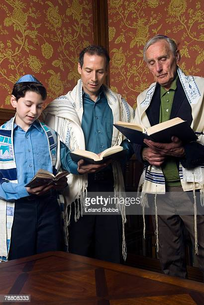 Three Generations Reading from the Torah