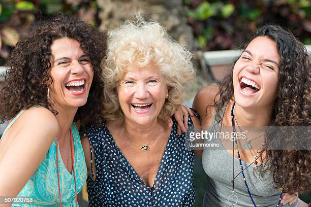 three generations women - beautiful grandmothers stock pictures, royalty-free photos & images