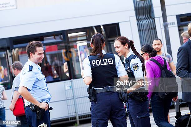 three german policemen - north rhine westphalia stock pictures, royalty-free photos & images