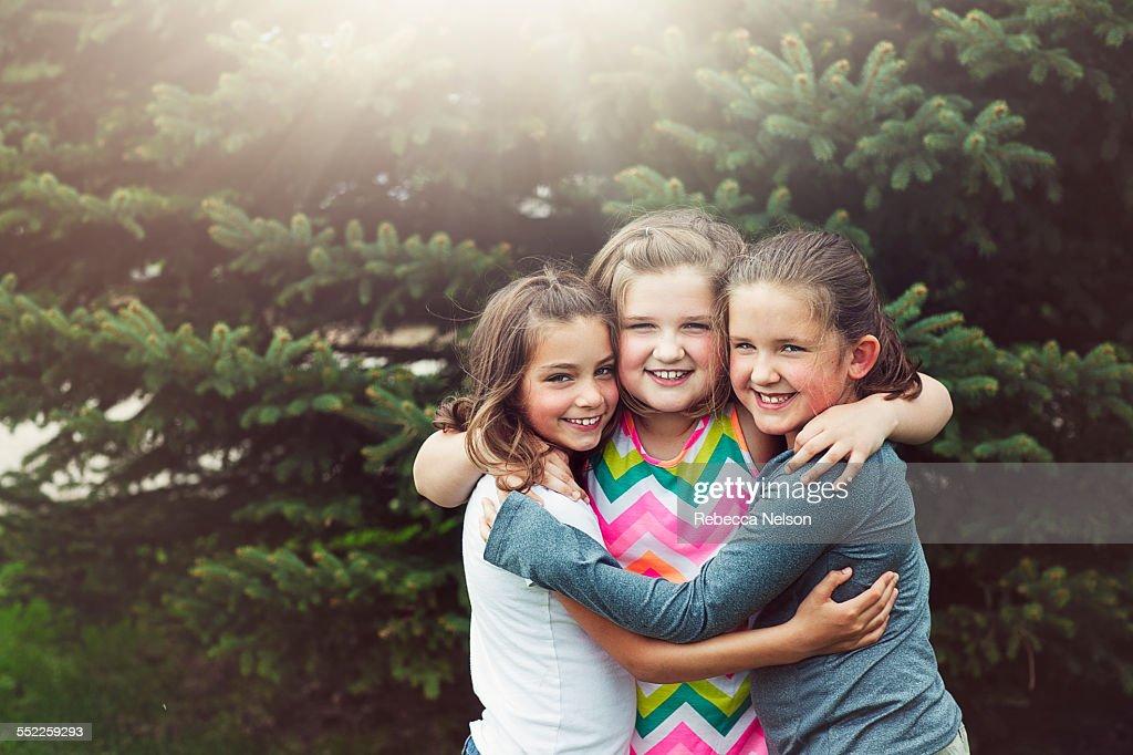 three girlfriends : Stock Photo