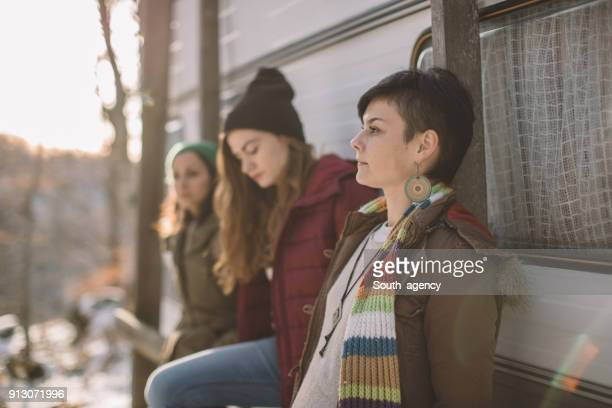 Three girlfriends