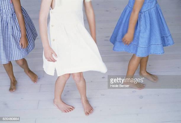 Three girls dancing