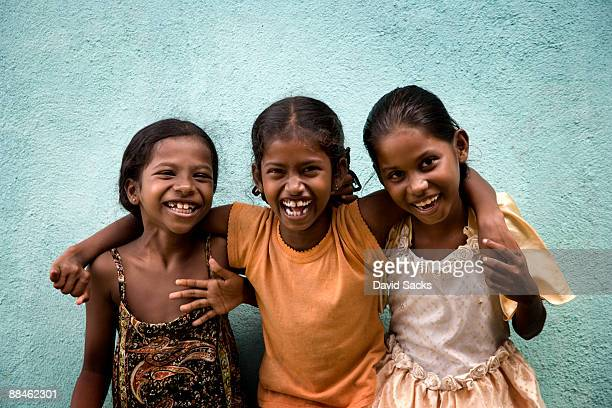 three girls - sri lanka stock pictures, royalty-free photos & images