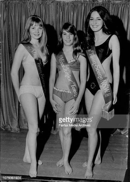 Three girls who were chosen today by a panel of judges at Waltons city store, who could go onto greater heights in the world of modelling.. Left to...