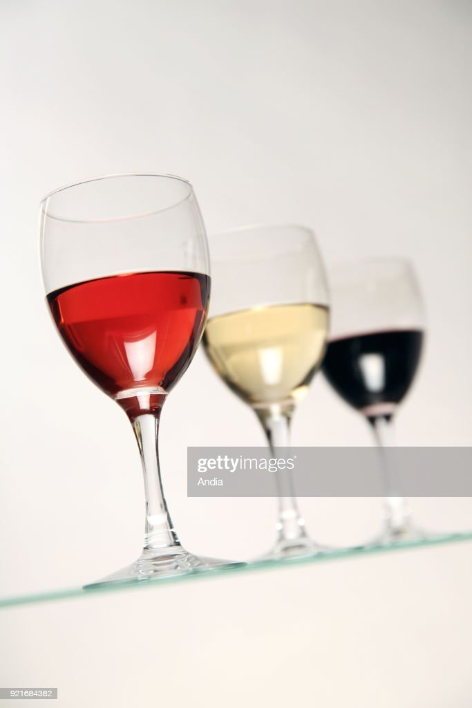 Glasses of wine. : News Photo
