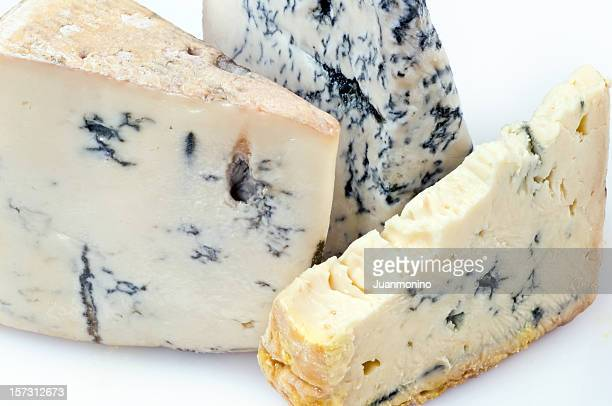 Three gorgonzola cheeses