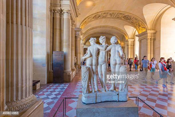 Three Graces Sculpture, Louvre Museum, Paris