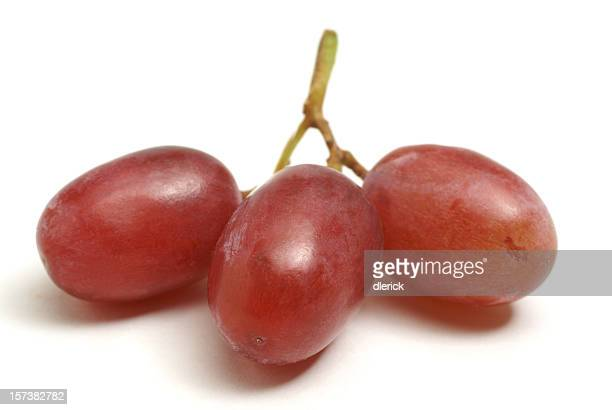 three grapes isolated on white