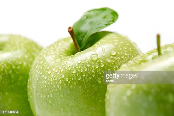 Drei grünen Äpfeln