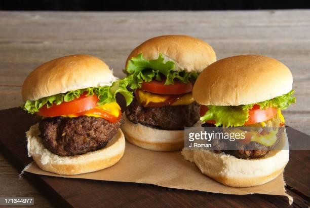 Three Hamburger Sliders