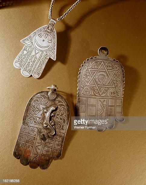 Three Hand of Fatima talismans Morocco Berber