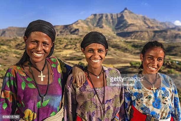 Three happy African women, Ethiopia, Africa