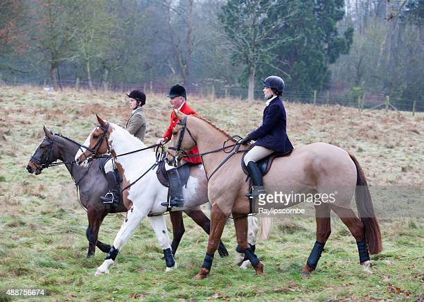 three hunts people gather for the annual boxing day hunt - fox hunting stock pictures, royalty-free photos & images