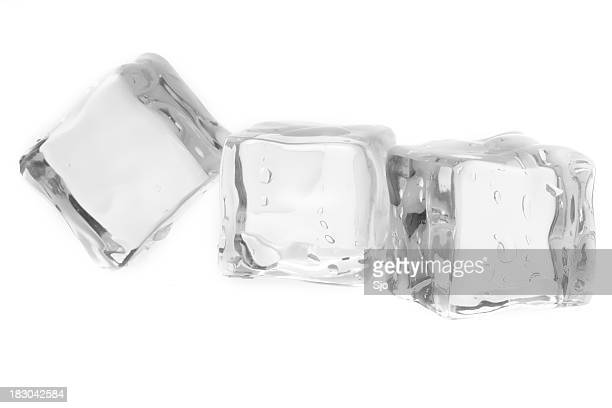 three icecubes - ice cube stock photos and pictures