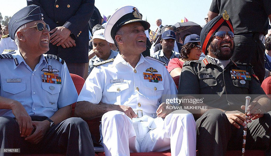 Three Indian service chiefs, Air Force Chief Air Chief Marshal S P