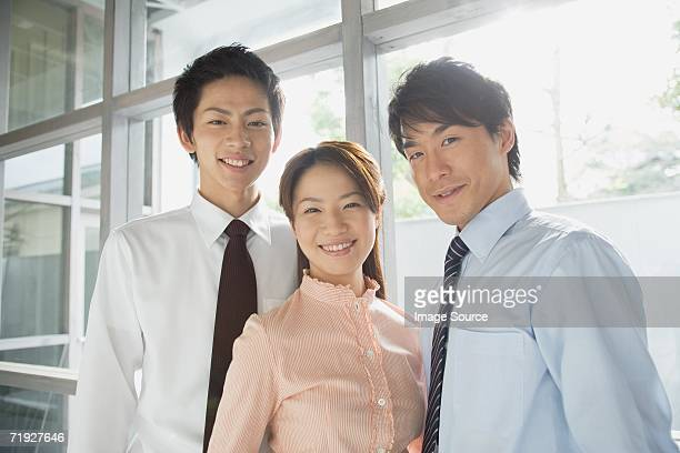 Three japanese colleagues