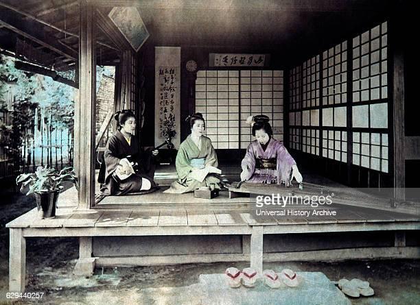Three Japanese Musicians 1880