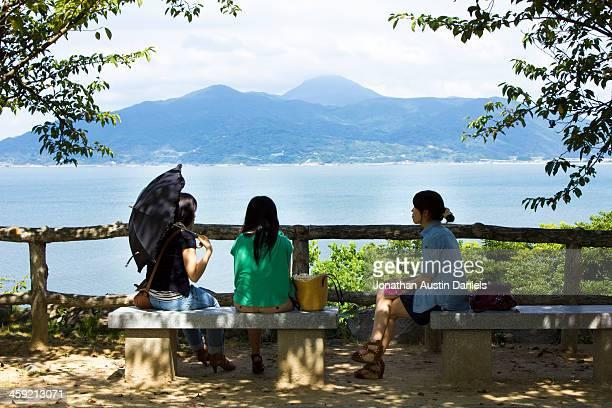 3 つの女性の唐津市(日本) - 佐賀県 ストックフォトと画像