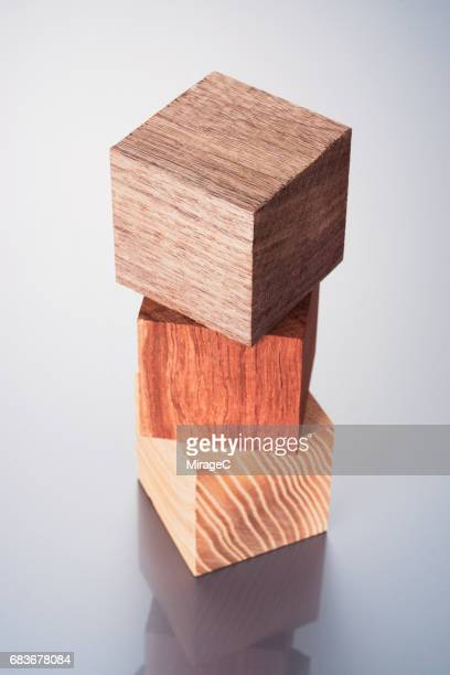 Three Kinds of Wood Block Stacking