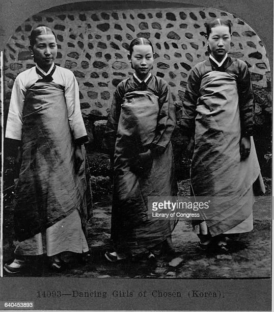Three Korean Dancers