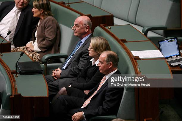Three Liberal backbenchers Petro Georgiou Judi Moylan and Russell Broadbent have defied Prime Minister John Howard to cross the floor of Parliament...