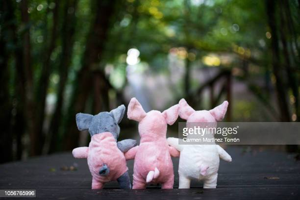 three little pigs - monster fictional character stock pictures, royalty-free photos & images