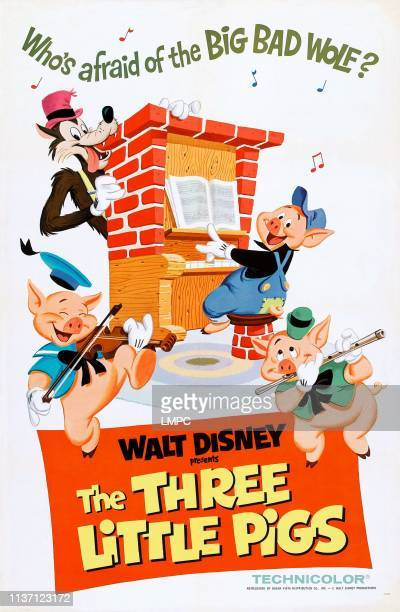 Three Little Pigs poster US rerelease poster from 1968