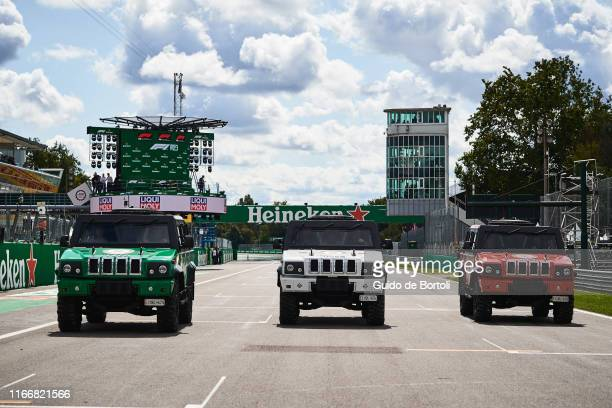 Three LMV Custom vehicles from Iveco Defence Vehicles belonging to Italy's Ministry of Defence and decorated with the colors of the italian national...