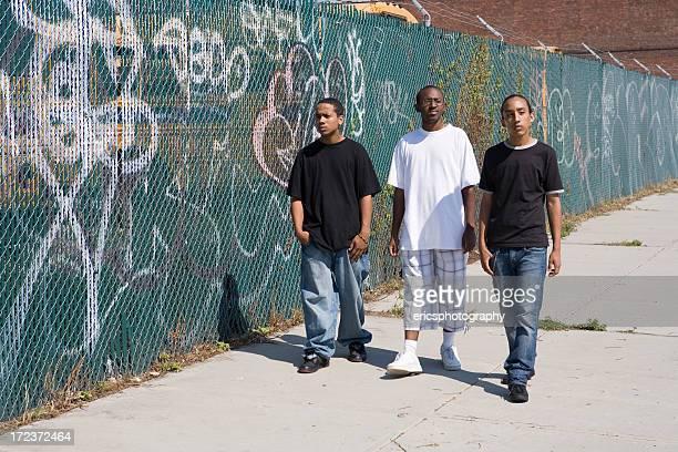 Three male friends in Brooklyn
