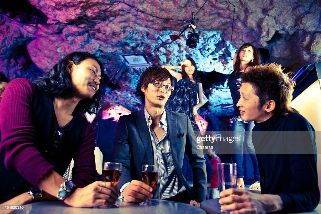Three man at the bar : Stock Photo