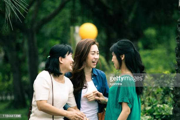 three mature woman enjoy travel - kyonntra stock pictures, royalty-free photos & images
