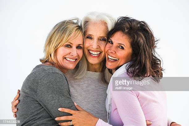 three mature women are best friends for life - pretty older women stock pictures, royalty-free photos & images