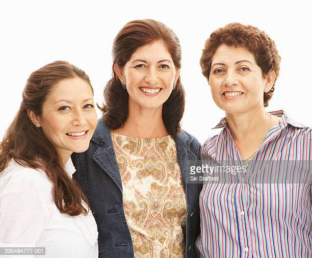 three mature women smiling, portrait - 50 59 years stock pictures, royalty-free photos & images