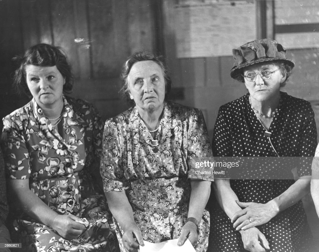 Three members of Bishop Itchington parish council. Original Publication: Picture Post - 5384 - Six Women And One Man Get Things Done - pub. 1951