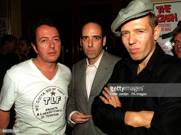 Three members of The Clash Joe Strummer Mick Jones and Paul Simonon at the premiere of the BBC2 documentary Westway To The World in Notting Hill in...