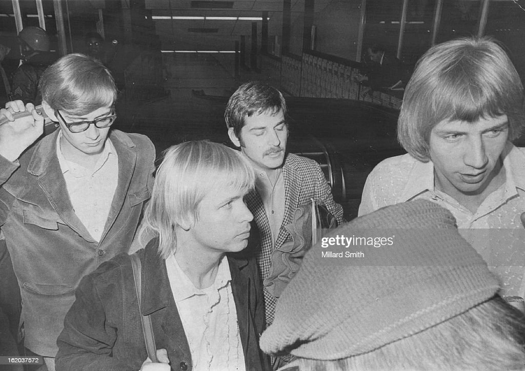 OCT 31 1969; Three members of the rock group Harper's ...