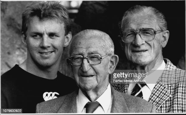 Three men from different eras in the North Sydney Rugby League history met at North Sydney Oval today They are 92 years old Alan Steel who played in...
