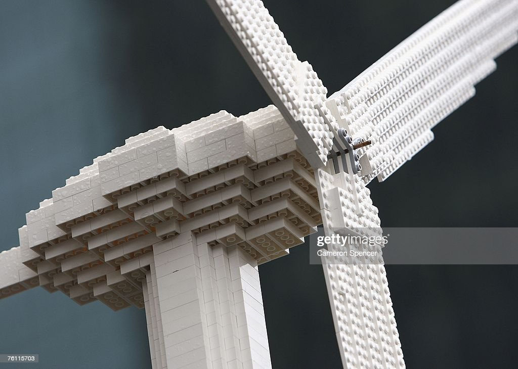 Lego Turbine Displayed At Technology Extravaganza : News Photo