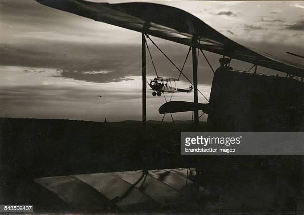 Three military aircrafts 1917 WWI Silver gelatin print 12x18cm RK_131 Photograph by Rudolf Koppitz Photoinstitut Bonartes