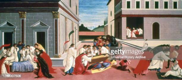 Three Miracles of St Zenobius', 1500-1505, Artist: Sandro Botticelli. Saint Zenobius was the first Bishop of Florence. From the collection of the...