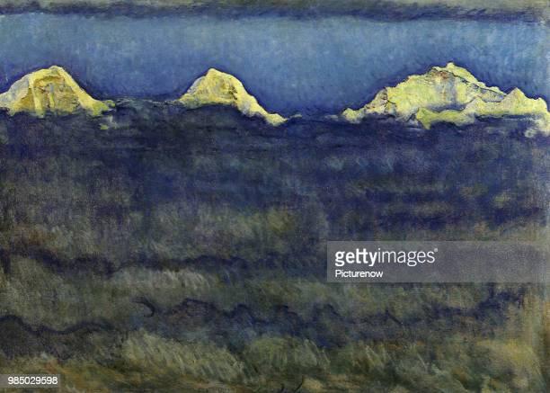 Three Mountains and Mist Hodler Ferdinand