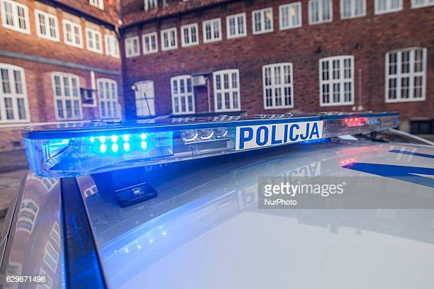 Three new cars and new drugs analyser start operating in Pomeranian Police in Gdansk Poland on 13 December 2016 An light Police car is seen Cars and...